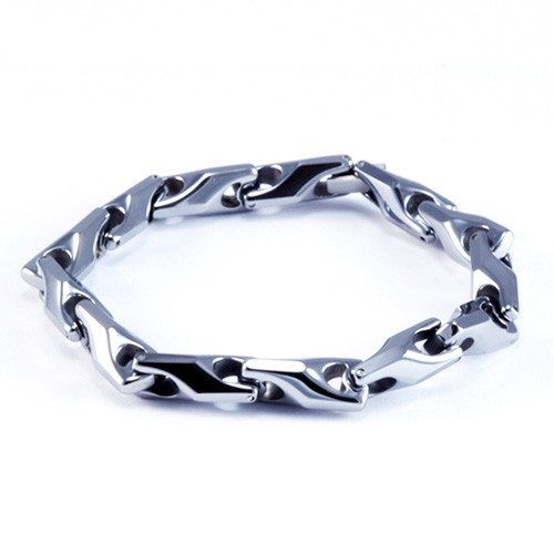 8.5 Inch Modern Mens / Woman's Tungsten Carbide Link Bracelet
