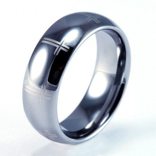 Favorite 8mm Mens / Woman's Tungsten Carbide Wedding Band / Ring with Laser  QF51